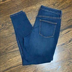 Plain blue jeans